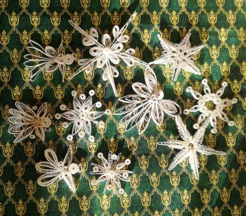 Quillingowe gwiazdki i aniołki