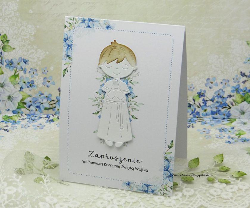 Zaproszenie na Komunię z grafiką ZKG 20