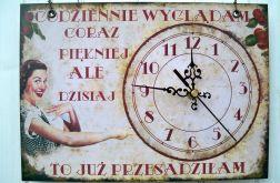 Zegar Ścienny Śmieszny Obrazek Prezent Deko