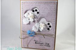 Kartka na Walentynki z serduszkami 3