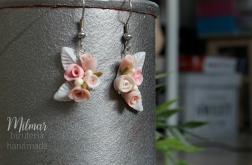 Pastelowe delikatne kolczyki-kwiatki