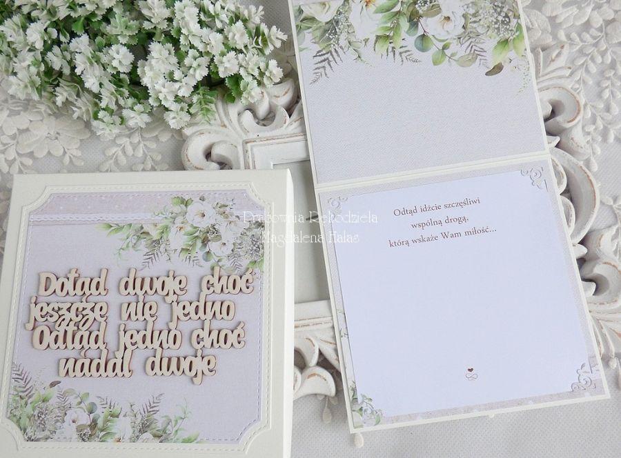 Ślubna kartka w pudełku 459 -