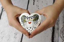 pudełko serce na obrączki