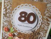 Kartka z okazji 80 urodzin w pudełku na zamówienie