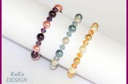 bransoletki Perły i kryształki