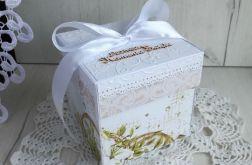 Exploding box Komunia Święta biały GOTOWY
