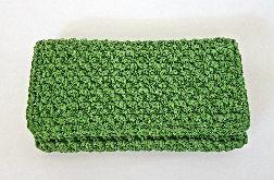Portfel szydełkowy (zielony II)