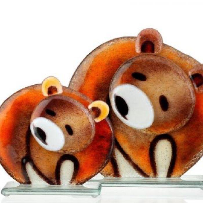 Miś / niedźwiedź ze szkła fusing -