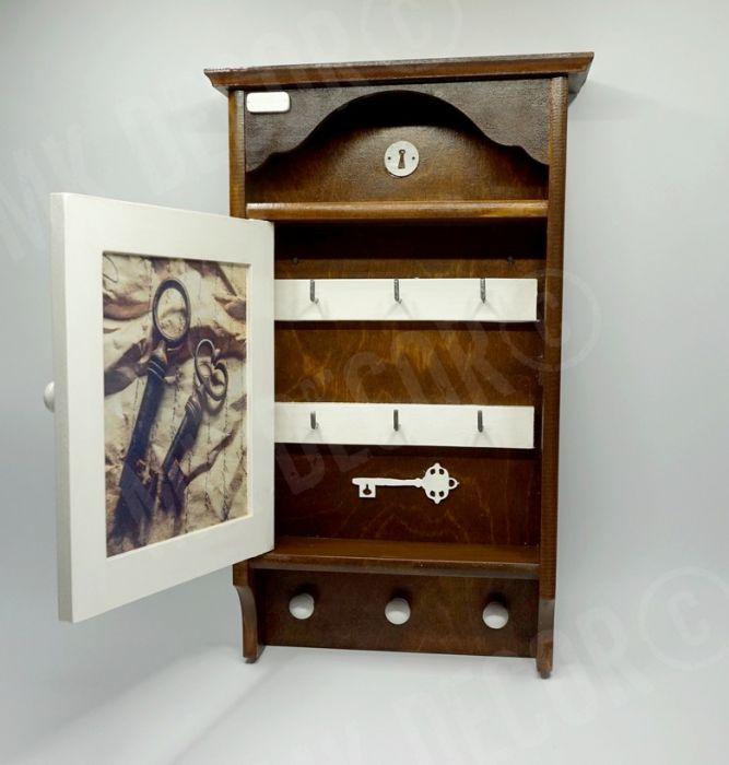 Duża szafka, domek na klucze retro KLUCZE - przechowywanie kluczy