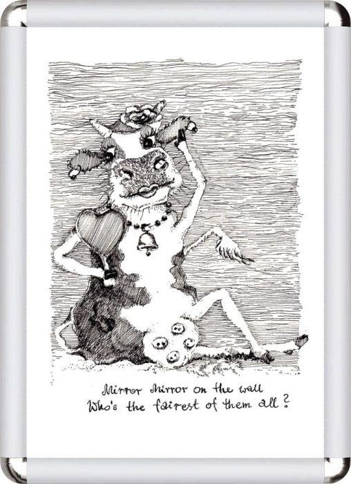 'Krowa i zwierciadło'. Wydruk cyfrowy