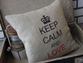 """Keep calm and love"" - poszewki"