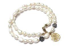 Pearls /white/ perły naturalne vol. 2 - choker