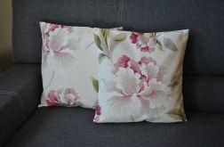 Poszewka dekoracyjna - różowe liście