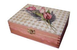 TULIPANY Z LAWENDĄ - herbaciarka, pudełko