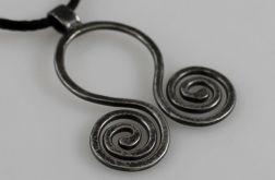 Zawijasy - srebrny wisior 190417-01