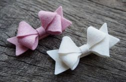 Momilio * kokardka kremowa i różowa