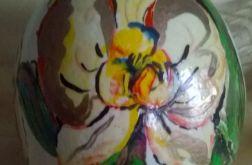 Jajko Strusia Malowane Storczyk