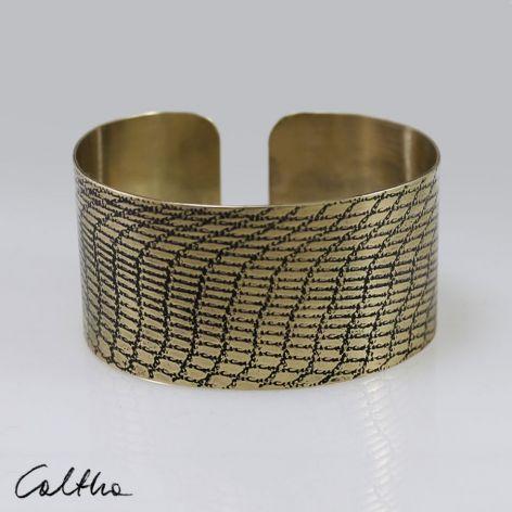 Siatka - mosiężna bransoleta 190111-01