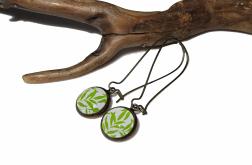 Kolczyki Zielone Listki – pomysł na prezent