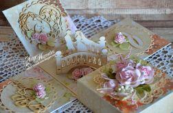 box na ślub z parą na moście