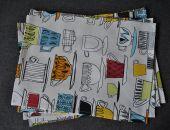 Podkładka pod talerz - kolorowe filiżanki