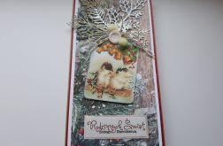 Kartka Boże Narodzenie z ptaszkami 2