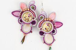 Kolczyki sutasz Violet Flowers
