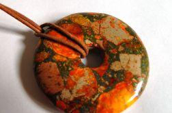 Turkus z pirytem, oryginalny kamień, wisior