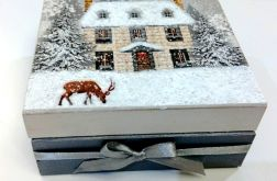 Pudełko świąteczny domek_