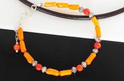 Bransoletka z korala pomarańczowego
