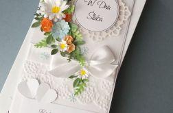 Kwiatami usłane - komplet ślubny
