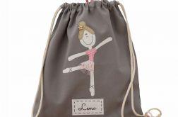 plecak worek baletnica z imieniem