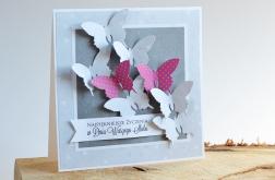 W DNIU ŚLUBU motyle na szarościach I