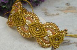 Regulowana, elegancka bransoletka miodowo złota