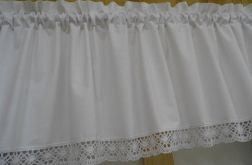 Biały lambrekin 250x50 - wzór 10