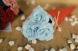 Bukiet róż z filcu - mięta