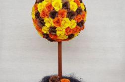 Kula z róż w jesiennych kolorach