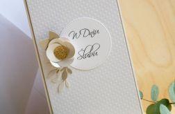 Kartka ślubna podłużna