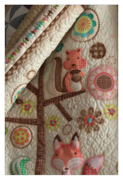 Kołderka dla malucha, patchwork - patchworkowa kołderka, otulacz