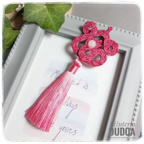 Wisior sutasz #17 różowy Flamingo chwost
