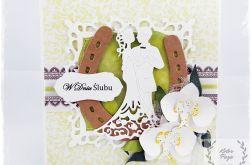 Kartka Ślubna ze storczykami 4