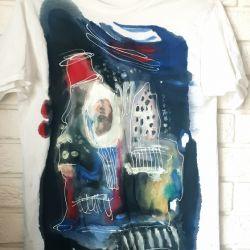 koszulka t shirt recznie malowany abstrakcja