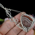 Agat, srebrny wisior z Agatem Crazy Lace