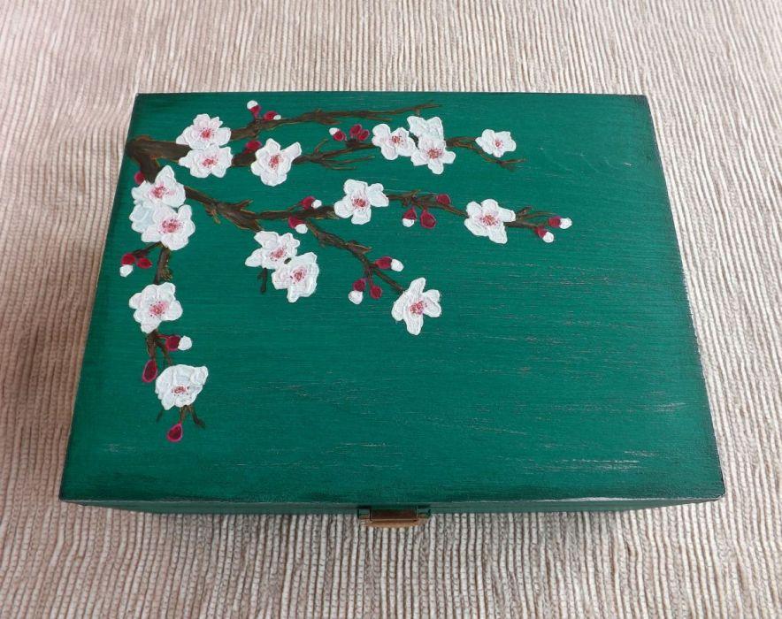 Herbaciarka malowana 6 przeg. - Kwiat wiśni