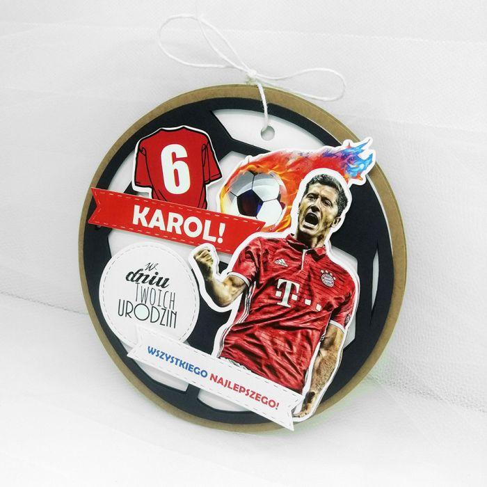 Kartka piłka nożna Lewandowski UDP 039
