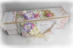 Eko pudełko i kopertówka fioletowo różowa