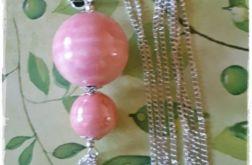 Różowe kule-naszyjnik