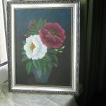 Róże w dzbanie - obraz akrylowy - obraz w ramie