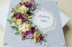Dla babci kartka z bukietem kwiatów