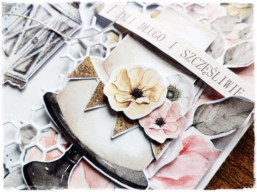 Długo i szczęśliwie - kartka ślubna -